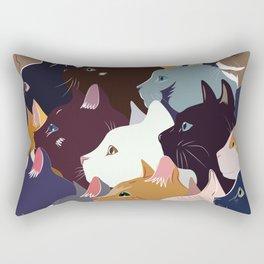 variety of cats Rectangular Pillow