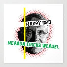 Harry Reid Is A Weasel Canvas Print