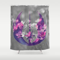 jedi Shower Curtains featuring Floral Jedi Order by foreverwars