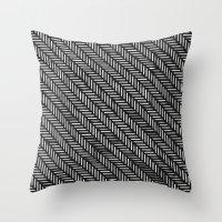 herringbone Throw Pillows featuring Herringbone by Sharon H.