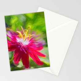 Red Passion Flower Stationery Cards
