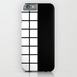 1980s (BLACK-WHITE) iPhone Case