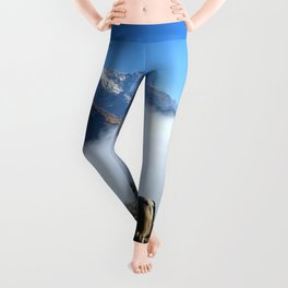 Panoramic View Of Everest Mountain Leggings