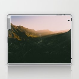 Sunset overt the mountains Laptop & iPad Skin