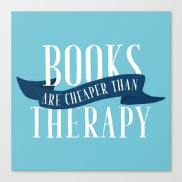 Books Therapy - Blue Canvas Print