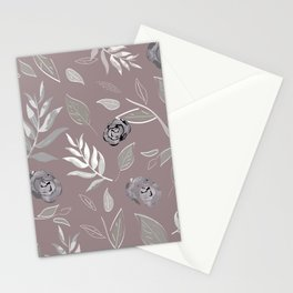 Simple and stylized flowers 14 Stationery Cards