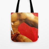 body Tote Bags featuring BoDy  by Hakim Pop Art