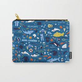 Life Aquatic Plot Pattern Carry-All Pouch