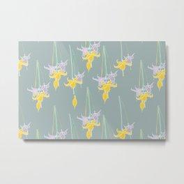 Petite Bouquet Yellow Metal Print