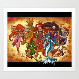 Seven Sages of Hyrule Art Print