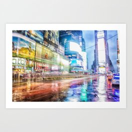 Abstract Times Square Art Print