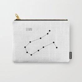 Zodiac: Gemini (White) Carry-All Pouch