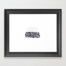 diamond burger Framed Art Print