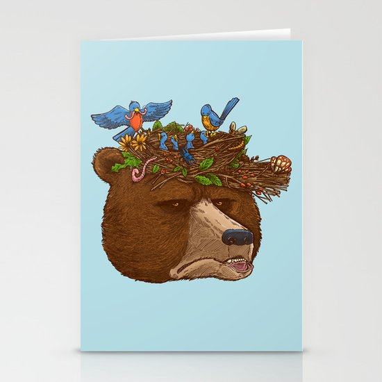 Mr Bear's Nature Hat 2017 Stationery Cards