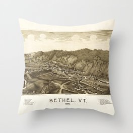 Aerial View of Bethel, Vermont (1886) Throw Pillow