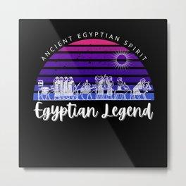 Vintage Sunset Egypt T Shirt Egyptian Tee Metal Print