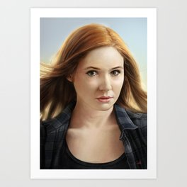 Amelia Pond from Doctor Who - Painting By Lunart Art Print