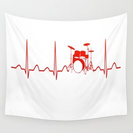 DRUMS HEARTBEAT Wall Tapestry