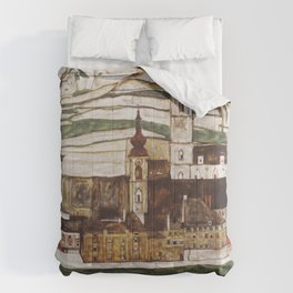 Egon Schiele - Stone on the Danube Comforters