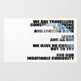 Travellers - Explorers quote Rug