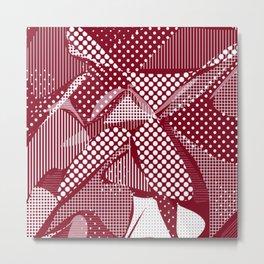 Doodle Fun 06,red Metal Print