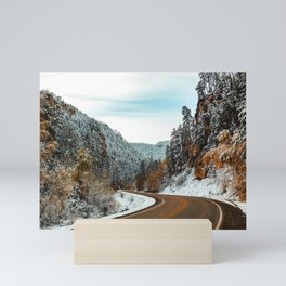 Winter in the Canyon Mini Art Print