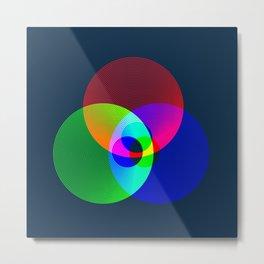 Red Green Blue Light Color Model Lines Metal Print
