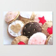 Felt Cookies Canvas Print