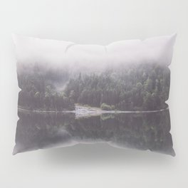 Misty mirror - Landscape and Nature Photography Pillow Sham