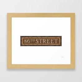 86 Street Framed Art Print