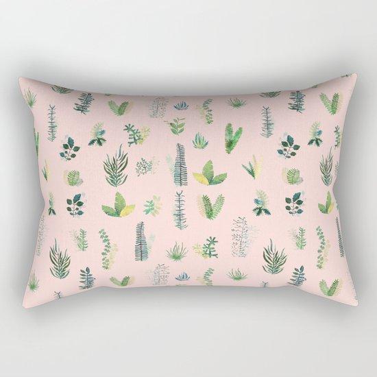pink pattern flowers Rectangular Pillow