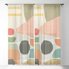 Modern Abstract Art 71 Sheer Curtain