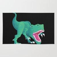 dinosaur Area & Throw Rugs featuring Dinosaur by Flame