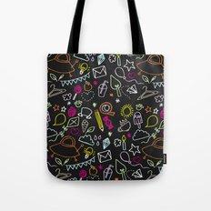 chalkboard doodles Tote Bag