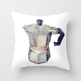 Caffettiera Throw Pillow