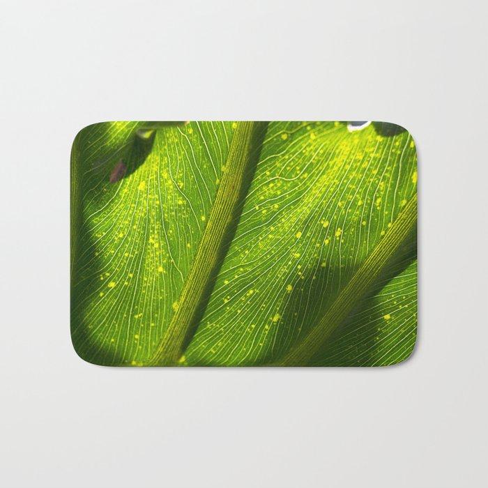 Spotted Leaf Bath Mat