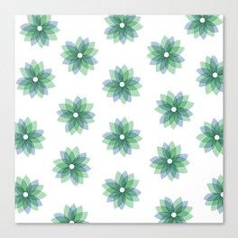Geo Spring Flowers 01 Canvas Print