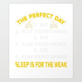 Teen Gamer  Shirt Gift Art Print