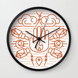 Sorcerer Emblem Wall Clock