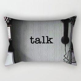 talk Rectangular Pillow