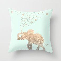 ELEPHANT - GOLD MINT Throw Pillow
