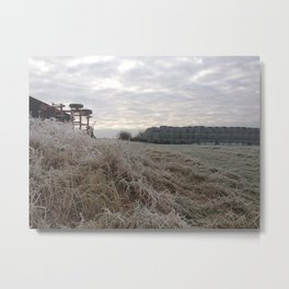 Frosted Haylage Metal Print