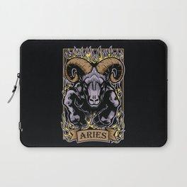 Aries Zodiac Sun Sign Ram Fire Astrology Laptop Sleeve