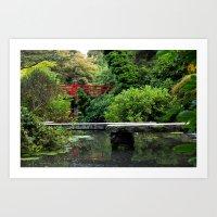 Bridges and Reflection Art Print