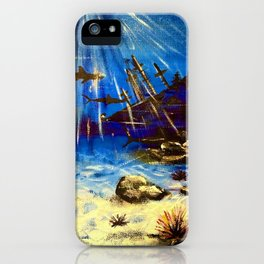 Shark Seascape iPhone Case