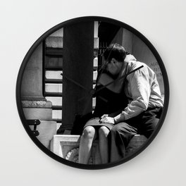 Woman Grieving in a Man Chest Wall Clock