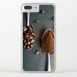 Coffee Spoons Clear iPhone Case