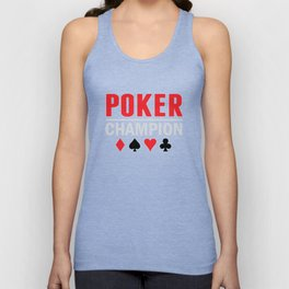 Poker Champion Card Game Unisex Tank Top