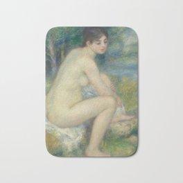 Nude Woman in a landscape by Renoir Bath Mat
