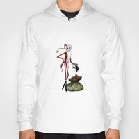 jack skellington Hoodies featuring Christmas Nightmare Jack Skellington by Inara